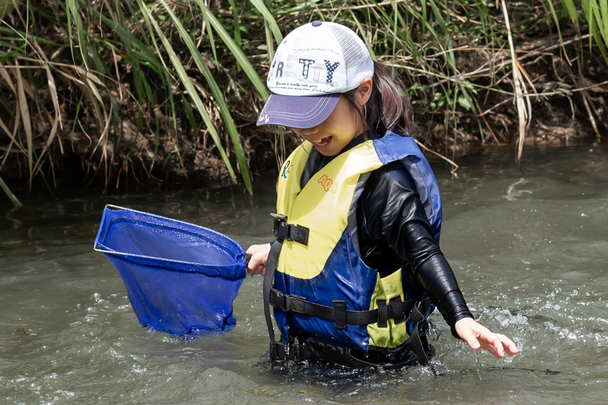 川遊びの様子